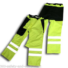 Rain Pants HI-VIS Waterproof Meets ANSI/ISEA Sizes: S To 2XL Reflective Stripes