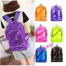 Fashion PVC Transparent Clear Plastic School Student Book Bag Backpack Sweet