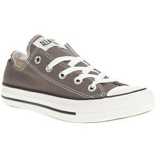 New Boys Converse Grey All Star Ox Canvas Trainers Lace Up