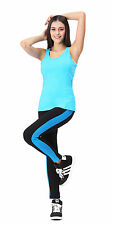 Women's Fashion Capris YOGA Running Pants Cropped Leggings Fitness cloth Tanktop
