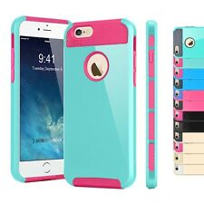 Shockproof Hybrid Rubber Cover Case Bumpers Protector for Apple iPhone 5s 6 Plus