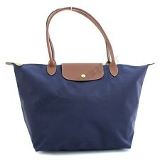 Navy Blue Longchamp Le Pliage Nylon Tote Shoulder Bag