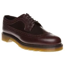 New Mens Dr. Martens Brown 3989 Leather Shoes Brogue Lace Up