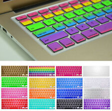 "Silicone Keyboard Rainbow Color Skin Cover For Macbook Pro Air Mac 13"" 15"" 17""US"