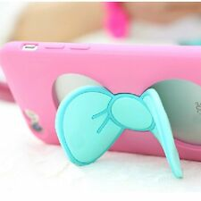 Hot kickstand Bowknot Silicone Rubber TPU Case Cover Skin For iPhone 6 5s 6 Plus