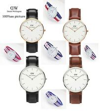 DW Watch For Daniel Wellington Men Watch Leather strap Japan movement Military