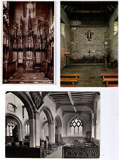 CHURCH CATHEDRAL INTERIOR POSTCARDS ASSORTED CHURCHES CATHEDRALS CLOISTERS CHOIR