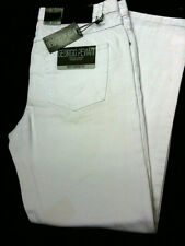 MENS WHITE JEANS COMFORT FIT BNWT, £14.95, SIGNED FOR p&p