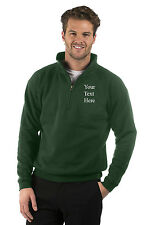 Embroidered Mens/Ladies Quarter Zip Sweat Jacket, Size XS to XXXL, Colour Bottle