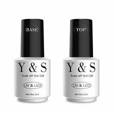Yaoshun Shiny UV Top Coat & Base Gel Nail Polish Manicure Soak Off Long Last 8ML