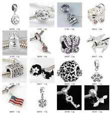 925 Solid Sterling Silver Popular Series fit European Charm Bead Bracelet