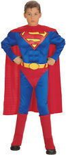 Boys MUSCLE SUPERMAN Costume Halloween Size L Large 12-14 Child Kids NEW