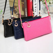 Women Shoulder Bag Crocodile Leather Messenger Crossbody Clutch Envelope Handbag