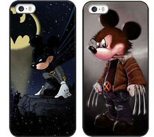 Disney Mickey Mouse Wolverine Batman DC Marvel iPhone 4 4s 5 5s 5c Hard Case