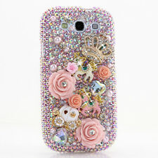FOR SAMSUNG GALAXY S6 NOTE 5 CRYSTALS BLING CASE COVER HORSE CARRIAGE AB PINK