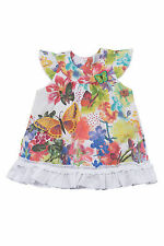 BONDI Girls' Summer Dress Woven Dress Allover Print Cute Flowers UK 3m-4yrs New