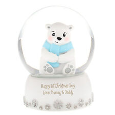 PERSONALISED GLASS SNOW GLOBE YOU CHOOSE THE MESSAGE  GREAT CHRISTMAS BDAY GIFT