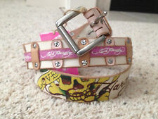 NWT Ed Hardy Tan Leather Belt Size Small