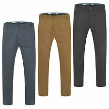Mens Chino Trousers Stallion Cotton Jeans Regular Pants Slim Fit Casual New All