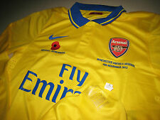 Arsenal NIKE 2013-14 EPL Remembrance (vs Manchester Utd) L/S Player-issue Shirt