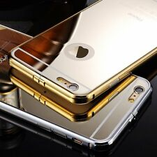 Luxury Ultra-thin Aluminum Metal Mirror Back Case Cover for iPhone 6 6+ Plus 5 S