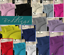 Plain Duvet Cover with Pillow Case Quilt Cover Bed Set OR Fitted Sheet S-D-K-S,K