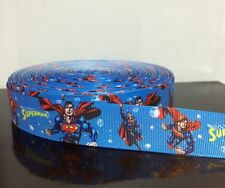 "3 Yards or 5 Yards 1"" Superman Grosgrain Ribbon"