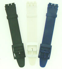 Ultra Thin Swatch Skin 17mm Replacement Watch Strap