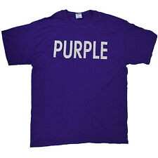 New Three Olives Vodka PURPLE T Shirt Large X Large Cotton British Flag