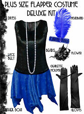 TALL Roaring 20's PLUS SIZE Flapper Dress Halloween Costume XL to 9x X-LONG TALL