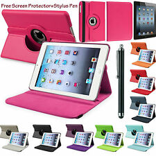 New PU Leather 360°Rotating Smart Stand Case Cover For APPLE iPad 5/AIR, 6/AIR 2