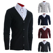 MENS SLIM FIT STYLISH BUTTON UP CARDIGAN 5 Colors Select (FC100 )