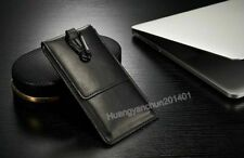 Genuine Leather Wallet Carry Pouch Sleeve Card Case Belt Clip Holster