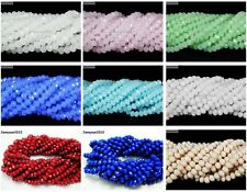 100Pcs Top Quality Czech Crystal Faceted Rondelle Beads 6x8mm 7x10mm 9x12mm