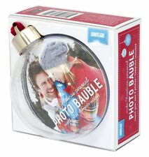 Christmas Bauble 80mm Round Insert Your Own Photo,Make your own,holds 2 photos