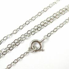 Rhodium Plated Sterling Silver Necklace, Bracelet, Anklet- 2mm Flat Cable Link