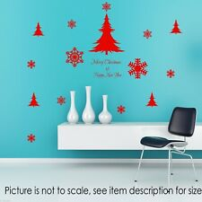 Xmas Snowflake Wall Decal Merry Christmas Tree Shop Stickers Nursery Art Decor