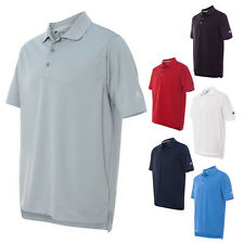 Adidas ClimaLite Textured Polyester Athletic Sports Polo Mens T Shirts A170