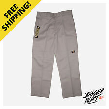 DICKIES Loose Double Knee Work Pants 85283 Silver - Authentic - FREE Postage