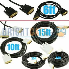 LOT - Dual Male Dual Link MALE TO MALE M/M DVI-D to DVI-D VIDEO CABLE CORD