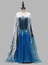 FE13 Disney Frozen Inspired Elsa Costume Dress Girl Kid Halloween Cosplay 4-12