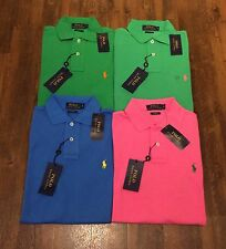 NEW POLO RALPH LAUREN MENS CUSTOM FIT PURE COTTON POLO SHIRT SIZE S / M / L
