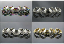 Lots 50pcs stainless steel fashion band wedding Mix Design Hollow Trendy rings