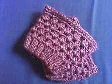 Handmade Woolen Green Pink Yellow  Crochet Boot Cuffs Toppers Leg Warmer