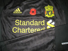 Liverpool ADIDAS 2010-11 EPL Remebrance Techfit Player issue Away Shirt GERRARD
