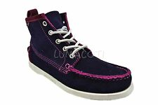 Sebago Beacon Dockside Plum Suede Womens Casual Ankle Boots 48404