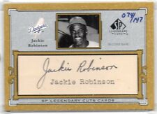 2001 Upper Deck Jackie Robinson SP Legendary Cuts Auto Dodgers Autograph Signed