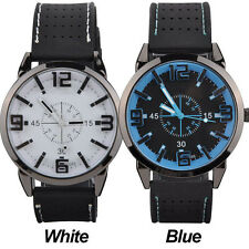 Men Watch 2015 Quartz Watch with Rubber Strap Band Wrist Watches boys Men Gift 4
