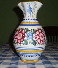 SLOVENSKA LUDOVA MAJOLIKA Rare VINTAGE Hand Made PAINTED POTTERY COLOURFUL  VASE