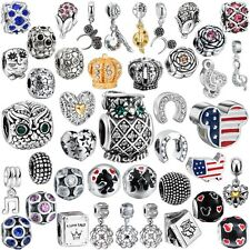 New Women Jewelry 925 Sterling Silver Fashion European Charms Fit Bead Bracelets